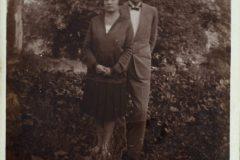 Z żoną Janiną.