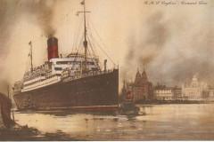 RMS Scythia. Pocztówka.