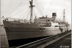 M/s Sobieski, na którym autor pływał w 1946r.